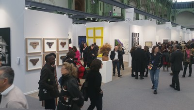 la foule au vernissage de Art Paris Art Fair